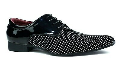 men two tone shoes new smart formal dress party wedding lace up size 6 - 11