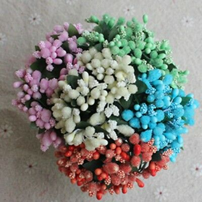 12 PC/Bunch Bouquet Artificial Flower Stamen Wedding Millinery Craft Fashion UK