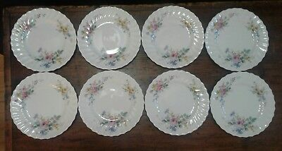 Set of 8 Royal Doulton Arcadia Pattern Bread Plates Green Stamp