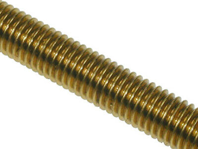 M8 Brass Threaded Bar Metric 8mm Studding Coarse Allthread