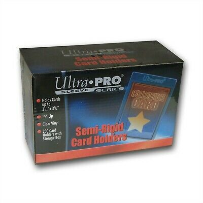 20 Ultra Pro Semi-Rigid Cards holders Protector sleeves New