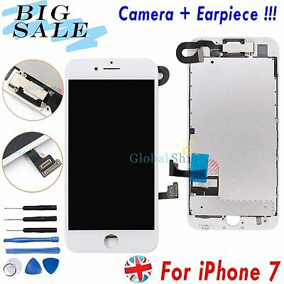For iPhone 7 Screen LCD Digitizer Display Assembly White 3D Touch + Front Camera