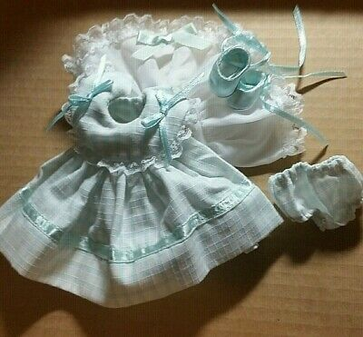 Tagged dress,bonnet,panties,shoes;Crib Crowd or Ginny!You choose one of five!