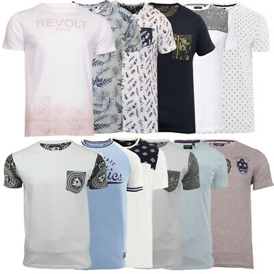 Mens Cotton Crew Neck Printed Summer T Shirt Top Casual Tee Brave Soul  XL L M S