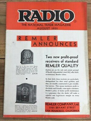 RADIO CRAFT MAGAZINE April 1931 Vintage Radio Service Technician