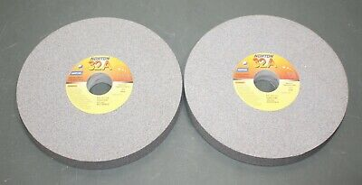 "(2) Norton Straight Surface Grinding Wheel 66253044624, 8"" x 1"" x 1-1/4"" 60 Grit"