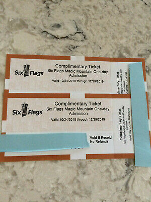 1 - 2 Six Flags Magic Mountain One Day Admission Tickets