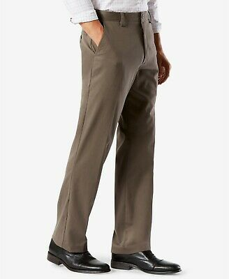 Dockers Pants Men's Flat Front Relaxed Fit Khaki 42W x 30L- ** NEW IN BAG **
