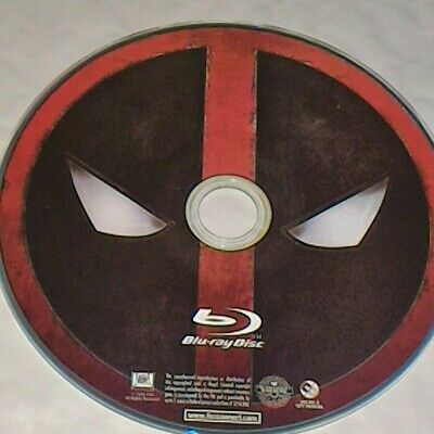 Deadpool BLU-RAY 2016 - Ryan Reynolds DISC ONLY NO CASE FREE SHIPPING