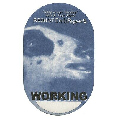 Red Hot Chili Peppers authentic Working 2003 tour Backstage Pass