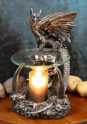 "8.5"" Tall Gothic Dragon Electric Oil Burner Tart Warmer Aroma Scent Figurine"