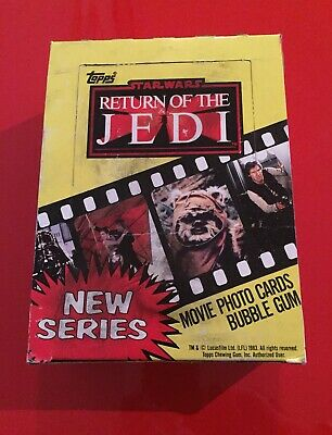Vintage Star Wars Wax Pack Trading Cards Empty Box