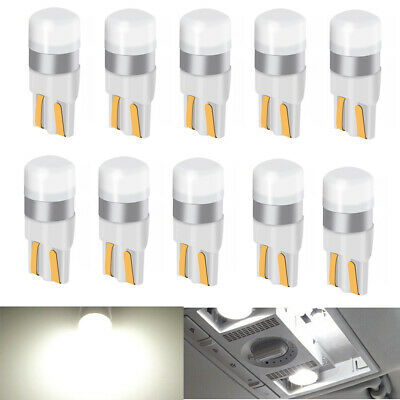 10Pcs Canbus LED Light White 6000K T10 3030 Bulb for Car Dome Map Licese Plate
