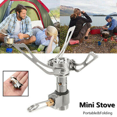 Mini Portable Folding Camping Gas Stove Picnic Burner with Box Safe Outdoor BBQ