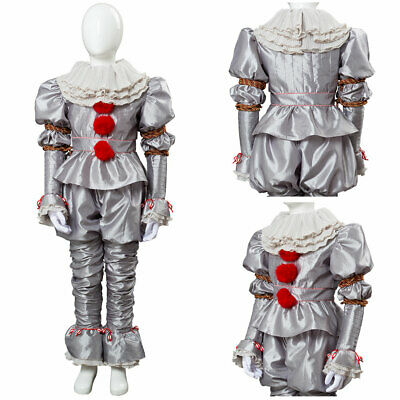 It Chapter Two2 Pennywise Clown Outfit Suit Halloween Cosplay Costume Kids Child