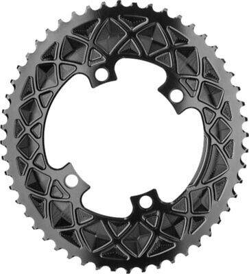 Absolute Black Winter oval road chainring 5x110BCD 50T Grey