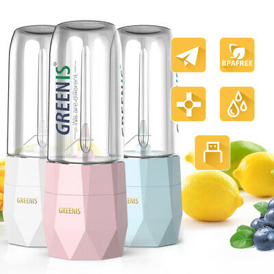 Mini Portable Blender Electric USB Rechargeable Juicer Bottle Smoothie Ice Crush