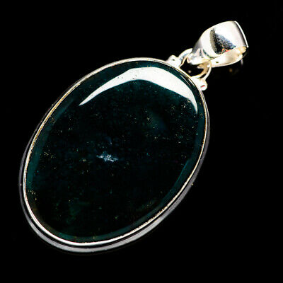 """Green Moss Agate 925 Sterling Silver Pendant 1 3/4"""" Ana Co Jewelry P692419F"""