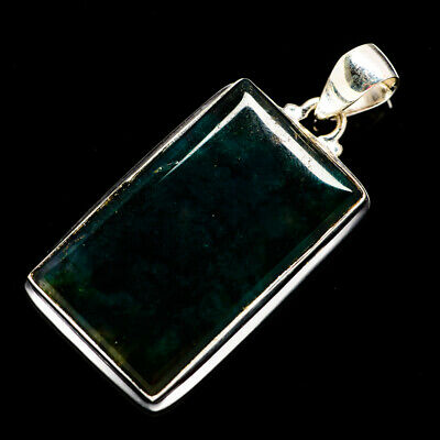 """Green Moss Agate 925 Sterling Silver Pendant 1 7/8"""" Ana Co Jewelry P692406F"""