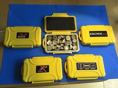 Metal Detector Coin Finds Case/box + Free Stickers. Minelab Equinox 800,Xp Deus.