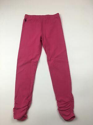 Girls Polo Ralph Lauren Barbie Bright Pink Gathered Bottom Leggings Size S (7)