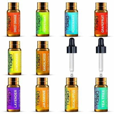 Essential Oils Set of 10 100% Pure Natural Aroma Aromatherapy Kit 5ml Gift Box