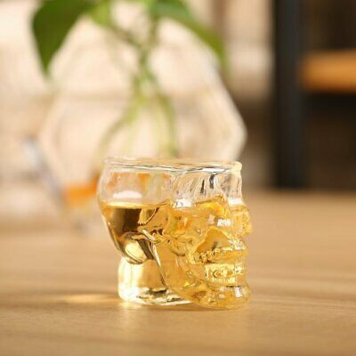 Transparent Skull Head Shot Glass Cup for Vodka Whiskey Wine Home Drinking CupWK