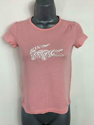 Girls Lacoste Pink Casual Short Sleeve Print Crew Neck T Shirt Kids Age 10 Years