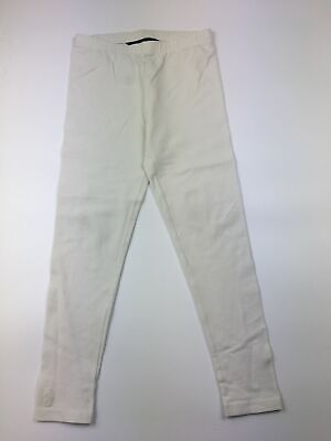 Girls Polo Ralph Lauren White Ivory Full Length Leggings Trousers Size S (7)