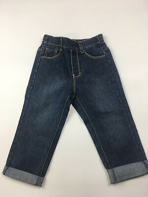 Boys Kids Guess Blue Denim Jeans Trousers Elasticated Waist Pull On  Age 2T