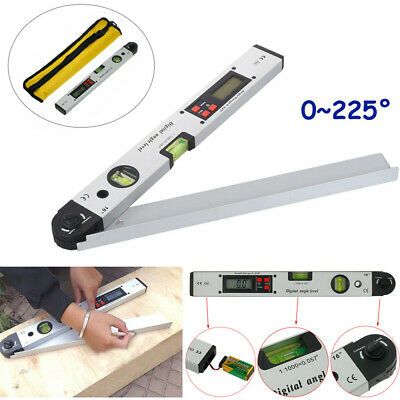 0-225 Degree Digital Angle Finder Inclinometer Protractor With Spirit Level J3L8