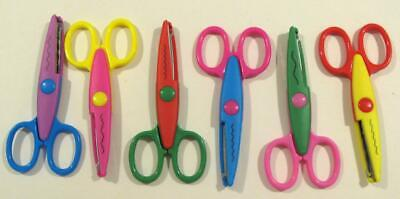 Craft Scissor 6Pc Pack With Decorative Edge On Each Diy Card Making Paper Craft