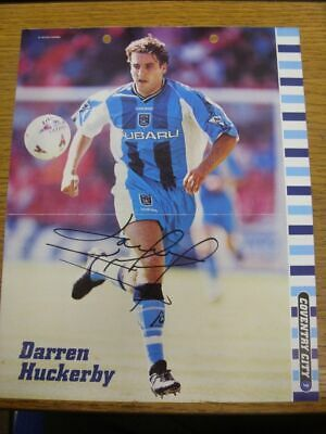 1998/1999 Autographed Magazine Picture: Coventry City - Huckerby, Darren  [Size: