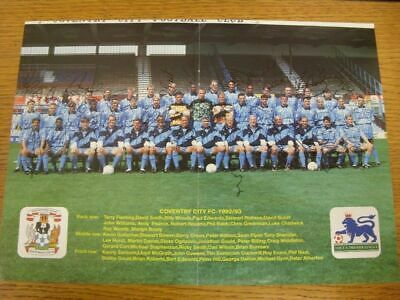 1992/1993 Autographed Magazine Picture: Coventry City - Team Group (signed by ap