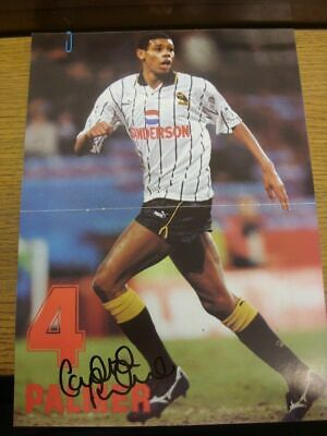 1993/1994 Autographed Magazine Picture: Sheffield Wednesday - Palmer, Carlton  [