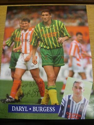 1993/1994 Autographed Magazine Picture: West Bromwich Albion - Burgess, Daryl  [
