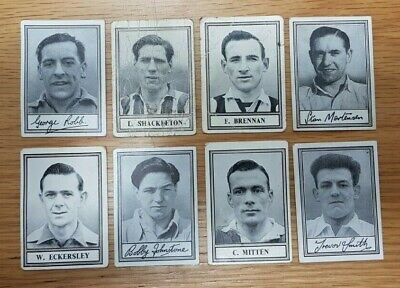 Eight Famous Footballers Cigarette Cards Barratt & Co Various Series