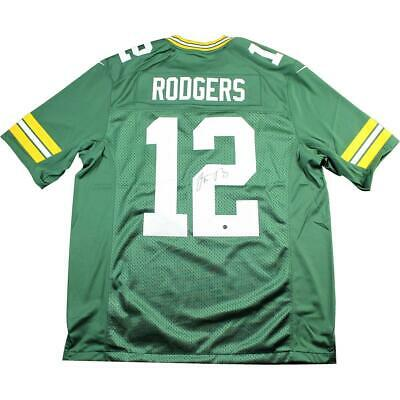 6749fd4c Aaron Rodgers Signed Green Bay Packers Green Twill Limited Nike Jersey