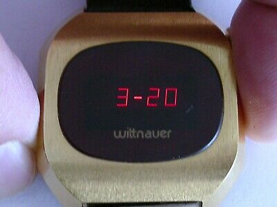 Wittnauer Lcd Led Digital Red, Vintage 1970, New Old Stoc, Longines, Rare, 12