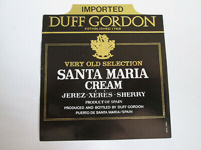 Etiqueta - Duff Gordon - Very Old Selection Santa Maria Cream - Jerez Sherry - P