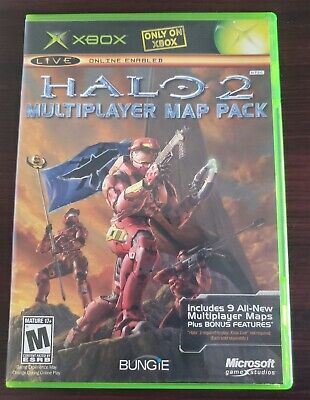HALO 2 MULTIPLAYER MAP PACK COMPLETE (Microsoft Xbox, 2005) VG SHAPE Halo Multiplayer Map Pack on