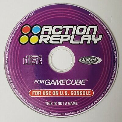 DATEL Action Replay Cheat/Add-on Content Disc for Nintendo GameCube, TESTED