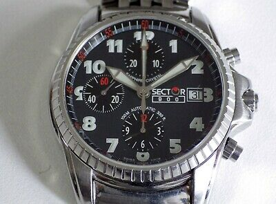 Chronograph Sector 900 Automatic Valjoux 7750, All Stell, Top Quality, 40Mm