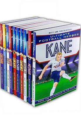 Ultimate Football Heroes 10 Books Set Collection Kane Neymar Ronaldo - NEW