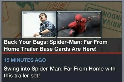 Topps Marvel Collect Card Trader Spider-Man Far from Home Trailer Base Set of 28