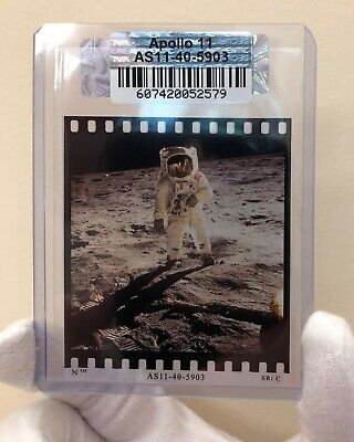 Apollo 11 Moon Landing by NASA 70mm Film Face Shield Iconic Photo Hand Numbered!