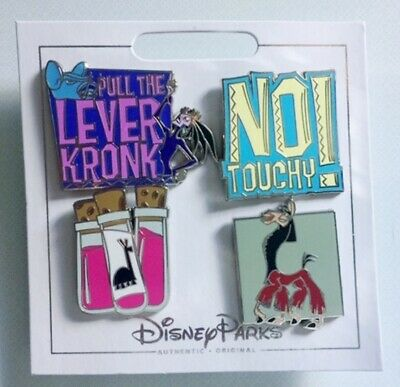 Disney Parks The Emperor's New Groove 4 Pin Set New
