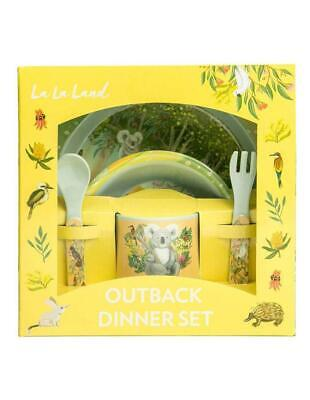 Kids Melamine Dinner Set, Children's Meal Set, La La Land Outback Dinner Set