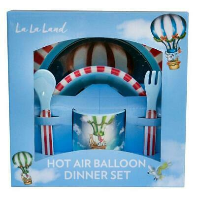 Kids Melamine Dinner Set, Children's Meal Set, La La Land Hot Air Balloon set