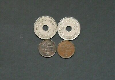 Palestine coins, Group of 4, from 1927...1939,F/VF